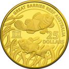 25 Dollars - Elizabeth II (4th portrait; UNESCO Great Barrier Reef) 2015 – revers