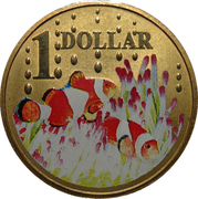 1 Dollar - Elizabeth II (4ème portrait ; poisson-clown) – revers