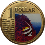 1 Dollar - Elizabeth II (4th portrait; Longfin Bannerfish) – revers