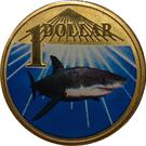 1 dollar Le grand requin blanc – revers