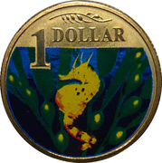 1 Dollar - Elizabeth II (4th portrait; Bigbelly Seahorse) – revers