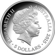 5 Dollars - Elizabeth II (Longest-Reigning Commonwealth Monarch) 2015 -  avers
