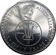10 Cents - Elizabeth II (50th Anniversary of Decimal Currency) -  avers