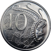 10 Cents - Elizabeth II (50th Anniversary of Decimal Currency) -  revers
