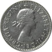 "3 Pence - Elizabeth II (1er portrait ; sans ""F:D:"") – avers"