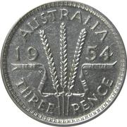 "3 Pence - Elizabeth II (1er portrait ; sans ""F:D:"") – revers"