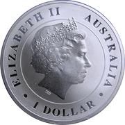1 Dollar - Elizabeth II (Australian Saltwater Crocodile) -  avers