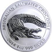 1 Dollar - Elizabeth II (Australian Saltwater Crocodile) -  revers