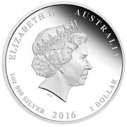 1 Dollar - Elizabeth II 4th portrait; 50th Anniversary of 1 Cent coin -  avers