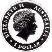 1 Dollar - Elizabeth II (4th portrait; The Australian Stock Horse) -  avers