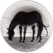 1 Dollar - Elizabeth II (4th portrait; The Australian Stock Horse) -  revers