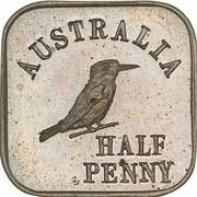 ½ Penny - George V (Kookaburra Pattern - Type 1) – revers