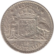 1 florin George VI (sans
