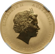100 Dollars - Elizabeth II (Year of the Mouse) -  avers
