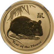 100 Dollars - Elizabeth II (Year of the Mouse) -  revers