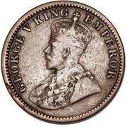 ½ Penny - George V (Indian ¼ Anna Obverse Mule) – avers