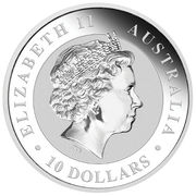 10 dollars - Elizabeth II (Kookaburra Silver Bullion) -  avers