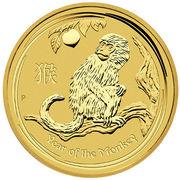 100 dollars - Elizabeth II (Année du singe) – revers
