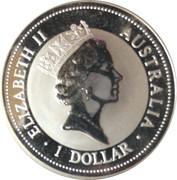 1 dollar Elizabeth II (3e effigie, kookaburra 1997) -  avers