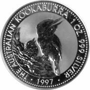 1 dollar Elizabeth II (3e effigie, kookaburra 1997) -  revers