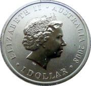 1 Dollar Elizabeth II (150 ans football australien) -  avers