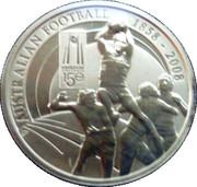1 Dollar Elizabeth II (150 ans football australien) -  revers