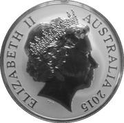 1 Dollar - Elizabeth II (4e portrait; crocodile marin, Argo junior) -  avers