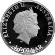 1 Dollar - Elizabeth II (4th Portrait; Australian Wedge-Tailed Eagle) -  avers