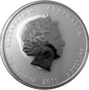 2 Dollars - Elizabeth II 4th portrait;