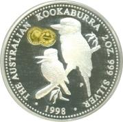 2 Dollars - Elizabeth II 3rd portrait / Two Kookaburras on branch -  revers