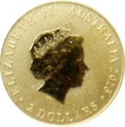 2 Dollars - Elizabeth II (4th Portrait; Mini Kangaroo) -  avers