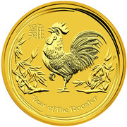 5 dollars Elizabeth II (4th portrait; Year of the Rooster) -  revers