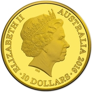10 Dollars - Elizabeth II (4e portrait; Année du Singe) -  avers