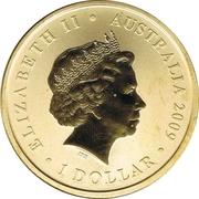 1 Dollar - Elizabeth II (4e portrait; Sydney 2009 Maître du Monde Jeux) – avers