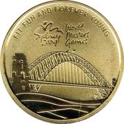 1 Dollar - Elizabeth II (4e portrait; Sydney 2009 Maître du Monde Jeux) – revers