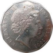 50 Cents - Elizabeth II (Volunteers) -  avers