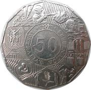 50 Cents - Elizabeth II (Volunteers) -  revers