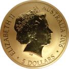 5 Dollars - Elizabeth II (4e Portrait, Voyage de Découverte 1606) – avers