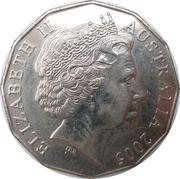 50 cents - Elizabeth II (2ème Guerre mondiale) -  avers