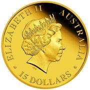 15 dollars - Elizabeth II (Koala) -  avers