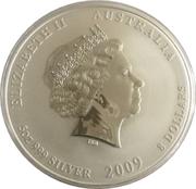 8 Dollars - Elizabeth II 4th Portrait; Year of the Ox -  avers
