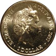 1 Dollar - Elizabeth II (4th portrait:Trans-Australian Railway) – avers