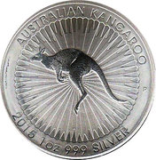 1 Dollar - Elizabeth II (Australian Kangaroo) -  revers