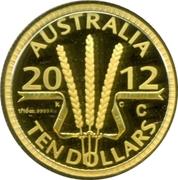 10 Dollars - Elizabeth II (4è portrait; blé Dollar Gerbe) – revers