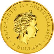 2 Dollars - Elizabeth II (4ème portrait ; Kangourou) -  avers
