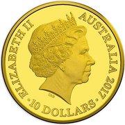 10 Dollars - Elizabeth II (Trans-Australian Railway) – avers