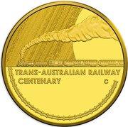 10 Dollars - Elizabeth II (Trans-Australian Railway) – revers