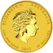 50 dollars Année du coq -  avers