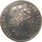 20 Cents - Elizabeth II (Sir Donald Bradman) – avers