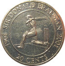 20 Cents - Elizabeth II (Sir Donald Bradman) – revers